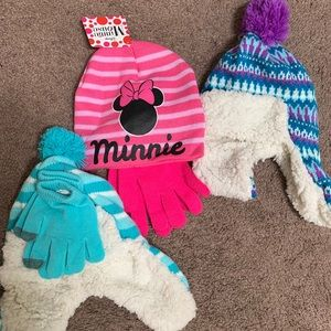 3 Girl Hat/Gloves